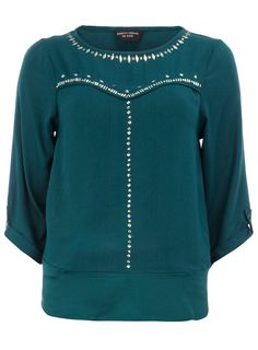green star studded top