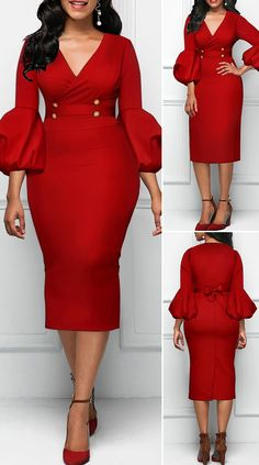 Red dress with high waist and V-neck high waist V-neck red dress HOT SALES beautiful dresses, pretty dresses, holiday fashion . - Source by Office Dresses Cute Dress Outfits, Classy Work Outfits, Casual Dresses, Sexy Dresses, Pretty Dresses, Beautiful Dresses, Office Dresses, Red Dress Outfit, The Dress
