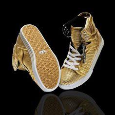 Women Supra Shoes Gold