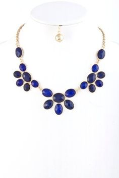 Gorgeous Gold with Navy Blue Jewel Necklace and Earring Set Fashion Jewelry NadiaRima, http://www.amazon.com/dp/B0091T1W6M/ref=cm_sw_r_pi_dp_.L9Qqb1E3PAK5