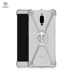 OATSBASF X Shaped Metal Frame Bumper with Ring Stand for Huawei Mate 9 Pro / Porsche Design Cover Case