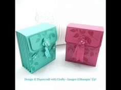 Tealight box for six scented tealights with pretty ribbon closure - YouTube