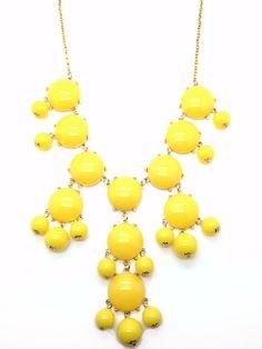 Lollipop - Yellow Statement Necklace