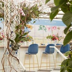 GUBI // Beetle Bar Chairs at the  Wedgwood Tea Conservatory