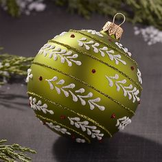 Add the final touch to your holiday with Christmas tree ornaments. Decorate the tree with classic baubles, shimmery candy canes, woodland animals and more. Ball Ornaments, Christmas Tree Ornaments, Christmas Decorations, Holiday Decor, Green Christmas, Crate And Barrel, Candy Cane, Mint Green, Crates