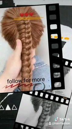 Hairdo For Long Hair, Bun Hairstyles For Long Hair, Hair Style Vedio, Hair Upstyles, Front Hair Styles, Hair Videos, Hair Designs, Hair Hacks, Hair Makeup