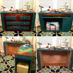 My wife does quite a bit of crafting from sewing quilts to printing out designs for t-shirts.  Right now the go to place for her to work is the dining room table.  With this plan, we wanted a storage option that could hold her sewing equipment and craft gear and yet still be able to