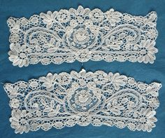 Antique Vintage Brussels Duchesse Lace and Point de Gaze Lace Cuffs | eBay