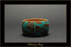 """Ordinary Story"" - Hand Painted Wooden Bracelet by Matilda-Dolls & Bracelets  SOLD"