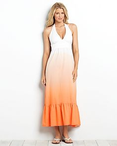 Tommy Bahama, dip-dyed long dress
