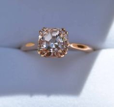 Morganite and rose gold ring. One of my favorite stones...on my wish list!