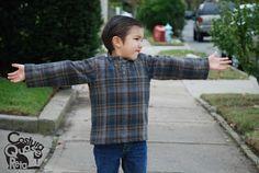 Costura camisa de menino Costura Quase Reta