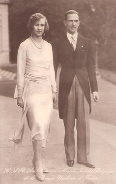Kronprinz Umberto und Kronprinzessin Marie Jose von Italien , future King &  Queen of Italy