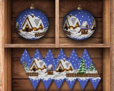 New crochet christmas ball covers seed beads Ideas Christmas Card Crafts, Crochet Christmas Ornaments, Christmas Balls, Holiday Ornaments, Crochet Ornament Patterns, Crochet Keychain Pattern, Beaded Ornament Covers, Beaded Ornaments, Beaded Jewelry Patterns