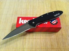 Kershaw Leek Speedsafe Assisted Folding Stonewash Knife Black Handle 1660SWBLK #Kershaw