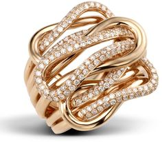 Love Twisted ring in 18k rose gold
