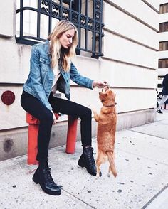 @marthahunt wears the Julie Combat Boots | The Frye Company