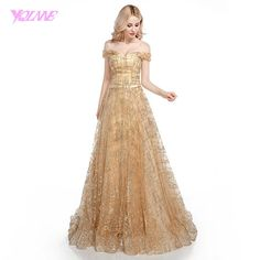 Find More Prom Dresses Information about YQLNNE Shining Gold Long Prom Dresses 2018 Off the Shoulder Tulle Lace up Evening Gown Dress ,High Quality gold long prom dresses,China prom dresses Suppliers, Cheap long prom dresses from YQLNNE suzhouweddings Store on Aliexpress.com Prom Dresses 2018, Formal Dresses, Wedding Dresses, Tulle Lace, Lace Up, Stunning Prom Dresses, Gown Dress, Evening Gowns, Off The Shoulder