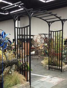 Garden Gallery Iron Works pergola arbor is sure to add a flare to any area of your landscape