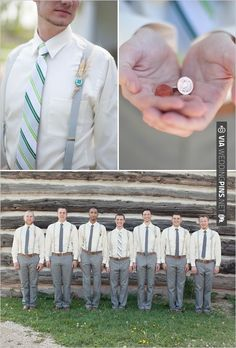 groomsman ideas and lucky penny cuff links | CHECK OUT MORE IDEAS AT WEDDINGPINS.NET | #bridesmaids