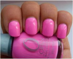 Orly Nail Polishes: Orly Fancy Fuchsia. Pink nails.