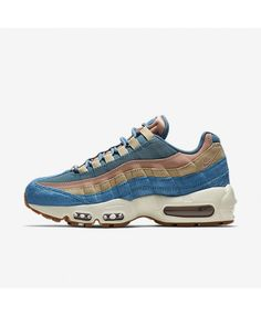 Dazzling Nike Air Max 95 LX Smokey Blue AA1103 002 Women's Casual Trainers Running Shoes AA1103 002