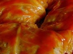 Nana's Golabki (Polish Stuffed Cabbage).  Love these to infinity and beyond but can never get them to roll
