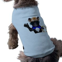 #cowboy pug - dog cowboy T-Shirt - #puppy #dog #dogs #pet #pets #cute #doggie #doggieshirt