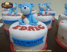 Baby Edric's full month celebrations cake