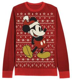 DISNEY MICKEY MOUSE UGLY CUTE CHRISTMAS SWEATER ADULT SIZES SM TO XL  #Disney #Crewneck