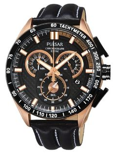 PULSAR ACTIVE | PX7006X1 Sport Watches, Gents Watches, Watches For Men, 100m, Casio Watch, Rose Gold, Chronograph, Unisex, Cod