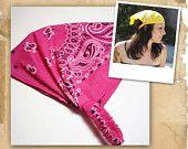 Kerchief Headband - Black Bandana Retro Hair Scarf, Hair Band. $14.00, via Etsy.