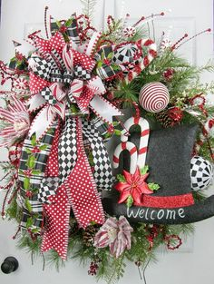 """The first wreath design of the Christmas 2016 collection. A huge statement designer series wreath welcoming the season with so many wonderful elements. ONLY ONE AVAILABLE - Built on a 30"""" Appalachian"""