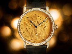 66c03873d6807a The Watch Quote  Rotonde de Cartier 42 mm watch, panther with granulation -  Cartier d Art explores an age-old decorative technique