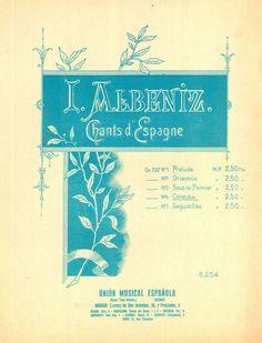 I. ALBENIZ - CORDOBA - KLAVIER SOLO - CHANTS D ESPAGNE - ORIGINAL MUSIKNOTE