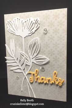 Kelly Booth shared 3 simple, but gorgeous Thank You Cards with us on her blog. For this card, Kelly used ModaScrap's Lacy Poppies, Pair of Leaves 1, and Leafy Branch 3. Find the full post here: http://cruzinkellster.blogspot.com/2017/02/some-thank-yous-created-with-new.html