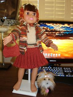 Ladyfingers - AG doll - Bulky Knit Jacket with Hood