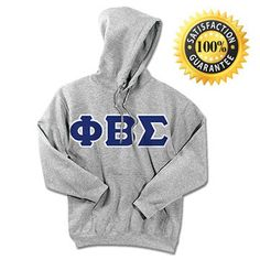 Phi Beta Sigma Fraternity Standard / Traditional Lettered Sweatshirt | Something Greek | #PhiBetaSigma #fraternity #standard #trads #hoodie #greeklife #somethinggreek