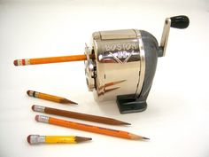 Pencil sharpener with wood handle like new in by FreshRetroGallery, $30.00