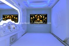 Space theme capsule bed