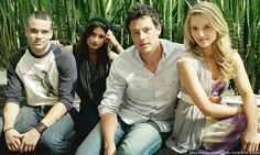 Glee: Mark Salling, Lea Michele, Cory Monteith and Dianna Agron