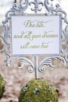 cute sign for dessert table.