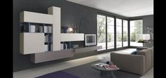 www.falammarredamenti.it Modern Wall Units, Tv Cabinets, Living Area, Living Rooms, Ideal Home, Minimalism, Interior Design, Inspiration, Furniture
