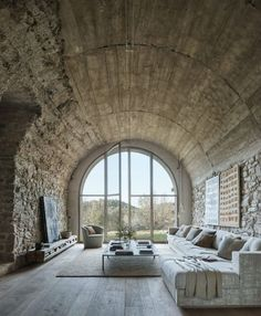 Centuriesold Spanish Farmhouse Transformed into a Stunning Home is part of - Joan Lao Design Studio, a family of creative interior designers has renovated a farmhouse near Barcelona into a one of a kind living space where they can live, work, relax Loft Interior, Interior Design Living Room, Interior Architecture, Interior And Exterior, Interior Decorating, Interior Design Farmhouse, Modern Interior, Decorating Tips, Spanish Interior
