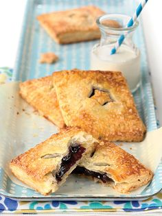 A treat for the weekend: blueberry hand pies.