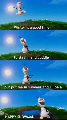 I am convinced that Olaf is the funniest Disney character! ⛄️