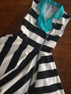 stripped motorcycle jacket inspired dress By ticci rockabilly clothing Punk Rock Outfits, Rockabilly Outfits, Rockabilly Fashion, Rockabilly Clothing, Emo Outfits, 50 Style Dresses, Emo Dresses, Pin Up Dresses, Party Dresses