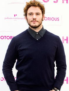 Hunger Games actor Sam Claflin keeps it coy at a Monday photo call in Rome for his upcoming film The Riot Club (titled Posh for Italian audiences). Hunger Games Cast, Star Track, Sam Claflin, Upcoming Films, Hot Actors, Dream Guy, Good Looking Men, Loki, Sexy Men