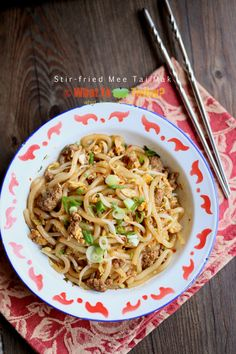 Mee Tai Mak / Bee Tai Mak is noodle made of rice flour. It is very similar to other type of noodle such as Flat Rice Noodles (Kwey Tiau) with an exception t