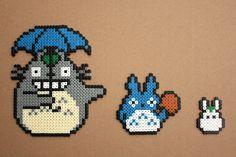 Totoro Hama Perler Bead Sprites by strepie93 on deviantART